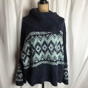 Free People Convertible Neck Sweater